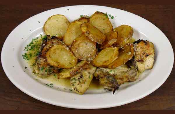 Chicken Vesuvio 1/2 Order