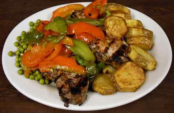 Pork Chop Vesuvio